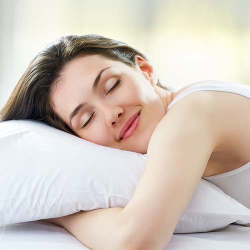 comfortable sleeping women
